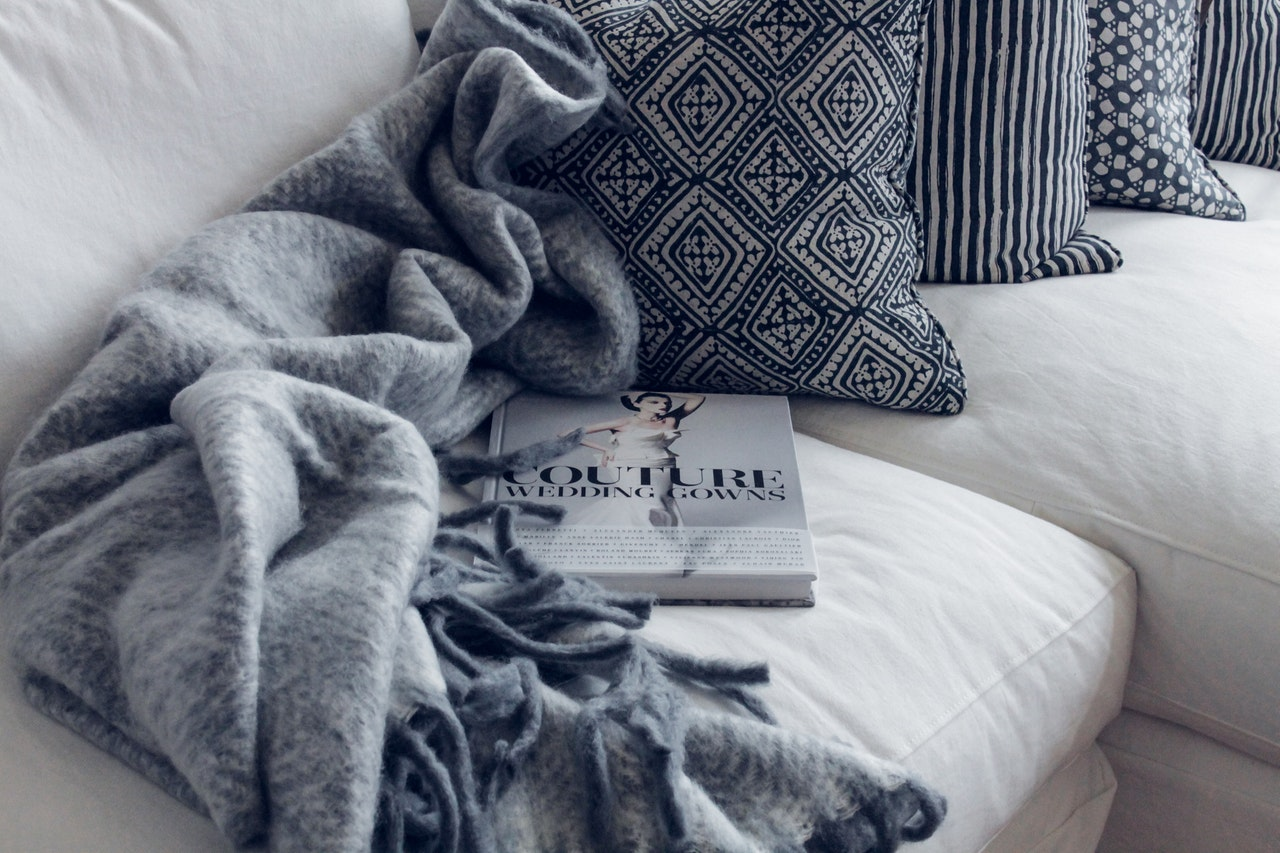cosy blankets and cushions